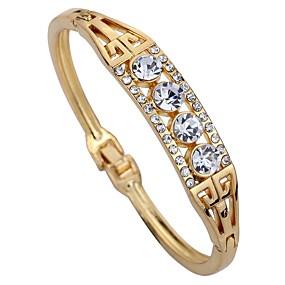 baratos Pulseiras Vintage-Mulheres Diamante sintético Pulseiras Algema senhoras Geométrico Strass Pulseira de jóias Ouro Rose Para Diário Palco
