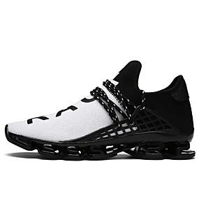 cheap Men's Shoes-Men's Tulle Spring / Summer Comfort Sneakers Walking Shoes Black / Black / White / Black / Red