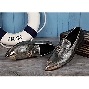 preiswerte Herrenhalbschuhe-Herrn Neuheit Schuhe Kunststoff Frühling / Sommer Britisch Outdoor Gold / Silber / Hochzeit / Party & Festivität / Party & Festivität / Komfort Schuhe