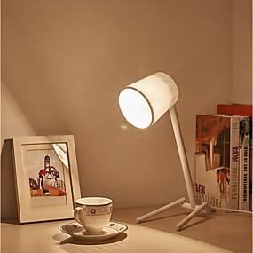 billige Skrivebordslamper-Enkel / Retro / vintage / Moderne / Nutidig Mini Stil / Øyebeskyttelse Skrivebordslampe Til Stof 220V Hvit / Svart