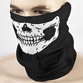 cheap Motorcyle Helmets-ZIQIAO Motorcycle Skull Face Mask Outdoor Sport Cycling Bike Motorbike Mask Windproof/sweat absorbent/sunscreen/breathable