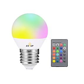 halpa LED-lamput-EXUP® 1kpl 5W 400lm E27 LED-älyvalot G45 1 LED-helmet Integroitu LED Himmennettävissä Koristeltu Kauko-ohjattava LED-valo RGB 85-265V