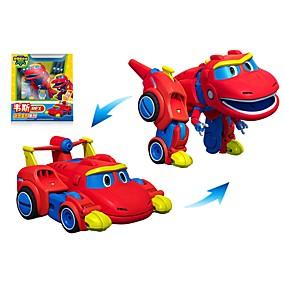 hesapli Robotlar, Canavarlar ve Uzay Oyuncakları-Robot Oyuncak Tekneler Yarış Arabası Arabalar Dinozor Hayvan transformable Hayvanlar Ebeveyn-Çocuk Etkileşimi Hayvan Yumuşak Plastik Çocuklar için Oyuncaklar Hediye 1 pcs
