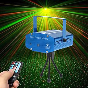 povoljno Reflektori za pozornicu-U'King Lasersko svjetlo za pozornicu Zvukom aktivirana rasvjeta / Daljinski upravljač / Aktiviran glazbom 10 W za Za dom / Outdoor / Zabava Profesionalna