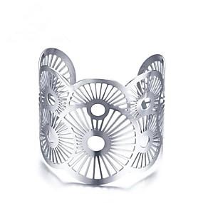 billige Vintage Armbånd-Dame Mansjettarmbånd geometriske damer Vintage vestlig stil Rustfritt Stål Armbånd Smykker Sølv Til Gave Daglig