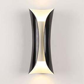 billige Vegglamper med LED-moderne enkelhet metall vegg lys 2-lys stue restaurant soverom nattbord lampe trapper gangen lys