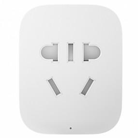 cheap Bundles&Packages-Smart Socket / Smart Plug LED indicator / Simple / Timing Function 1pack Plastics / Flame Retardant / 750°C Plug-in WiFi-Enabled / APP Xiaomi Smart Device