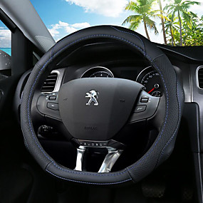 economico Accessori per interno auto-Copristerzo per auto vera pelle 36cm Blu / Nero / Nero - rosso Per Peugeot 308 / 308S