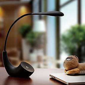 billige Skrivebordslamper-Moderne / Nutidig Øyebeskyttelse Skrivebordslampe Til Soverom Plast 220V Hvit / Svart / Rød