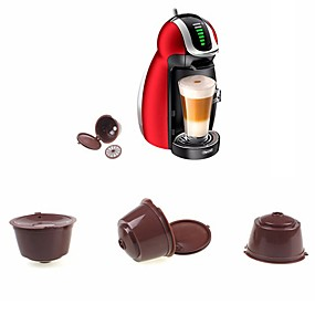 cheap Coffee and Tea-Reusable Capsule  for Dolce Gusto Coffee Nescafe Refillable Use 150 Times