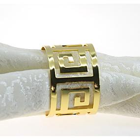 povoljno Prsteni za ubruse-Europska Style Metal Krug Prsten za ubrus Dekoracije stolova 12 pcs