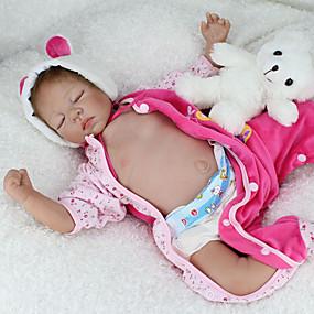 billige Legetøj-NPKCOLLECTION NPK DOLL Reborn-dukker Baby- og småbørnslegetøj Baby Reborn Baby Doll Silikone - livagtige Nuttet Håndlavet Børnesikker Ikke Giftig Smuk Børne Legetøj Gave / Forældre-barninteraktion