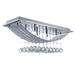 cheap 70% OFF-SL® 8-Light Flush Mount Ambient Light Electroplated Metal Crystal, Bulb Included 110-120V / 220-240V Bulb Included / G4