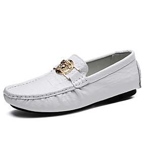 baratos Sapatos Náuticos Masculinos-Homens Mocassim Borracha Primavera / Outono Sapatos de Barco Azul Escuro / Marron / Verde