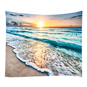 cheap Wall Tapestries-Beach Theme Pirates Wall Decor 100% Polyester Contemporary Modern Wall Art, Wall Tapestries Decoration