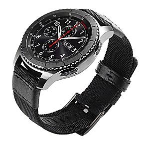 billige Smartwatch Bands-Urrem for Gear S3 Frontier / Gear S3 Classic Samsung Galaxy Klassisk spænde Læder / Nylon Håndledsrem