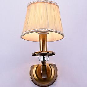 billige Vanity-lamper-Krystall / Mulighet for demping Rustikk / Hytte Vegglamper / Baderomsbelysning Stue / Soverom / Baderom Metall Vegglampe 220-240V 40 W / E14