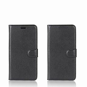 levne Pouzdra telefonu-Carcasă Pro Xiaomi Redmi 5A / Mi Mix Peněženka / Pouzdro na karty / se stojánkem Celý kryt Jednobarevné Pevné PU kůže pro Redmi Note 5A / Xiaomi Redmi Note 4X / Xiaomi Redmi Note 4 / Xiaomi Redmi 4A