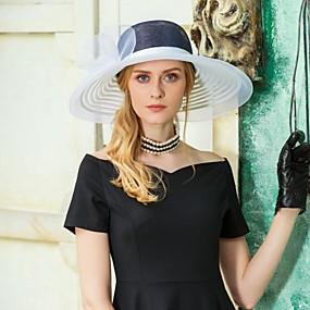 povoljno Kentucky Derby Hat-Til / Lan Fascinators / kape s Cvjetni print 1pc Vjenčanje / Zabava / večer Glava