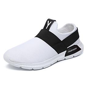 baratos Tênis Masculino-Homens Sapatos Confortáveis Tricô / Com Transparência Primavera Verão Tênis Preto / Branco / Cinzento / Atlético