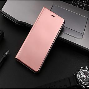 levne Pouzdra telefonu-Carcasă Pro Huawei P10 Lite / P10 se stojánkem / Galvanizované / Zrcadlo Celý kryt Jednobarevné Pevné PU kůže pro P10 Plus / P10 Lite / P10