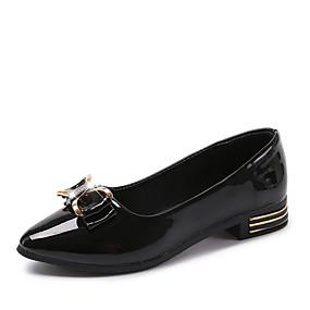 voordelige Damesschoenen met platte hak-Dames Platte schoenen Platte hak Ronde Teen Gesp Synthetisch / PU Comfortabel Wandelen Zomer Wit / Zwart / Roze