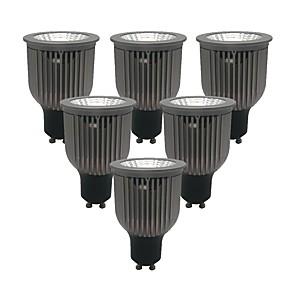 billige Innfelte LED-lys-ZDM® 6pcs 6 W 1 LED perler LED-spotpærer Varm hvit Kjølig hvit Naturlig hvit 85-265 V Kommersiell Hjem / kontor