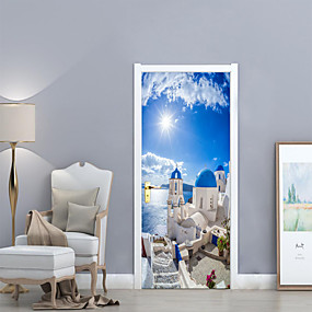 cheap Clearance-Decorative Wall Stickers Door Stickers - 3D Wall Stickers Landscape 3D Living Room Bedroom Bathroom Kitchen Dining Room Study Room /