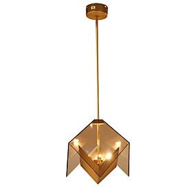 billige Takbelysning og vifter-LightMyself™ 3-Light Geometrisk Anheng Lys Omgivelseslys Gylden Metall Glass 110-120V / 220-240V Pære Inkludert / G9