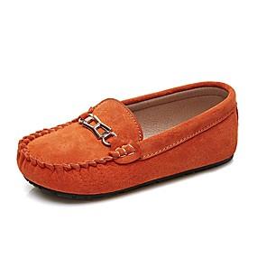 cheap Kids' Shoes-Boys' / Girls' Shoes Pigskin Spring Moccasin Loafers & Slip-Ons for Kids / Teenager Orange / Blue / Dark Green