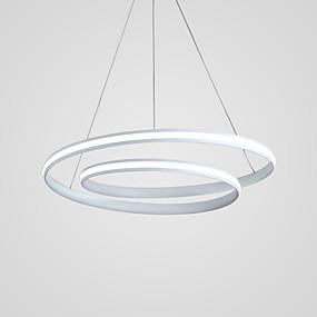 povoljno Ingyen szállítás-Cirkularno Lusteri Ambient Light Slikano završi Aluminij Prilagodljiv, New Design 110-120V / 220-240V Meleg fehér / Hladno bijela / Zatamnjen daljinskim upravljačem Uključen je LED izvor svjetlosti