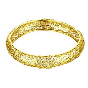 baratos Pulseiras Vintage-Mulheres Bracelete Pulseira Flor senhoras Fashion Italiano Diário Chapeado Dourado Pulseira de jóias Dourado / Ouro Rose Para Presente Diário