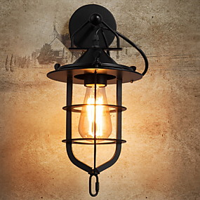 cheap Outdoor Wall Lights-Anti-Glare Antique Wall Lamps & Sconces Living Room / Outdoor Metal Wall Light 220-240V 40 W / E27