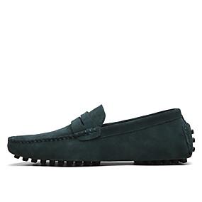 Недорогие Обувь больших размеров-Муж. Официальная обувь Замша Весна / Лето Мокасины и Свитер Темно-русый / Хаки / Тёмно-синий