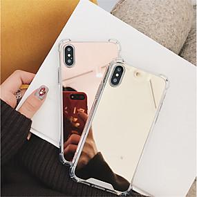 povoljno Telefoni i pribor-Θήκη Za Apple iPhone X / iPhone 8 Otporno na trešnju / Zrcalo Stražnja maska Jednobojni Tvrdo PC za iPhone X / iPhone 8 Plus / iPhone 8