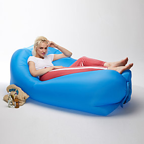 cheap -50%-21Grams Air Sofa Inflatable Sofa Sleep lounger Inflatable Couch Outdoor Camping Waterproof Portable Anti-Air Leaking Design Extra Wide Extra Large Nylon Beach Camping Outdoor Fast Inflatable