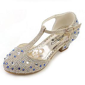 338469ffae1 Κοριτσίστικα Παπούτσια Φο Δέρμα Άνοιξη & Χειμώνας Λουλουδάτα φορέματα για  κορίτσια Τακούνια Τεχνητό διαμάντι για Παιδιά Χρυσό / Ασημί / Ροζ