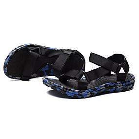 baratos Sandálias Masculinas-Homens Sapatos Confortáveis Lona Verão Sandálias Côr Camuflagem Verde / Vermelho / Azul