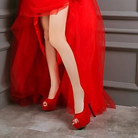 povoljno Cipele za maturu-Žene Cipele na petu Party Heels Stiletto potpetica Peep Toe PU Obične salonke Jesen zima Crvena / Plava / Pink / Zabava i večer / Zabava i večer