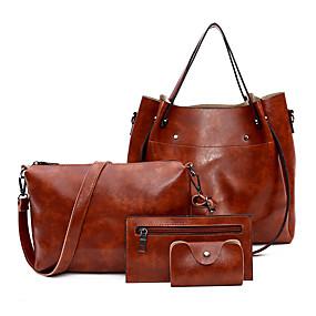 povoljno Cipele i torbe-Žene Patent-zatvarač PU Bag Setovi Kompleti za vrećice 4 kom Red / Sive boje / Braon / Jesen zima