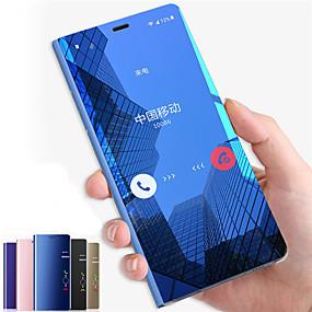 voordelige Mobiele telefoonhoesjes-hoesje Voor Samsung Galaxy Note 9 / Note 8 met standaard / Spiegel / Flip Volledig hoesje Effen Hard PC voor Note 9 / Note 8 / Note 5