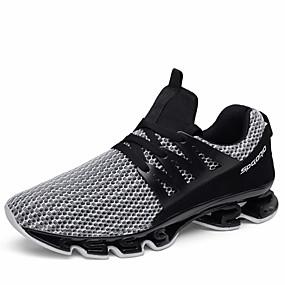 hesapli Erkek Atletik Ayakkabıları-Erkek Ayakkabı PU Yaz Rahat Atletik Ayakkabılar Koşu / Yürüyüş Dış mekan için Siyah / Gri / Siyah / Kırmızı