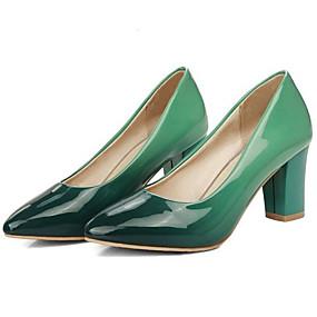 abordables Escarpins-Femme Chaussures à Talons Talons de fête Talon Bottier Polyuréthane Escarpin Basique Hiver Vert / Violet / Rouge / Quotidien
