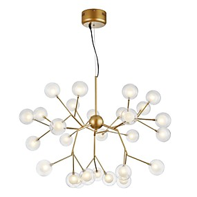 cheap Chandeliers-ZHISHU Novelty Chandelier Ambient Light Painted Finishes Metal Glass Creative, New Design 110-120V / 220-240V Bulb Included / G4