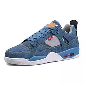 baratos Tênis Masculino-Homens Jeans Verão Conforto Tênis Estampa Colorida Preto / Branco / Azul
