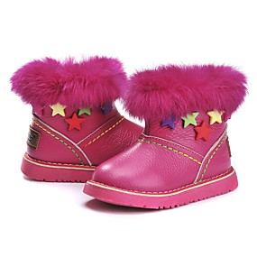bc2d45ee0e5 Girls  Shoes Leather Winter Snow Boots Boots Tassel for Kids   Toddler  Peach   Booties   Ankle Boots