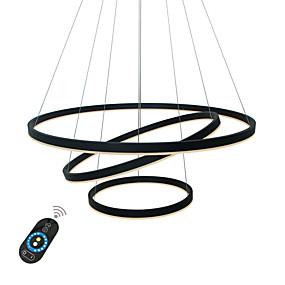 billige Lysekroner-UMEI™ Sirkelformet Lysekroner Omgivelseslys Malte Finishes Aluminum Akryl Kreativ, Justerbar, Mulighet for demping 110-120V / 220-240V Hvit / Dimbar med fjernkontroll / Wi-Fi Smart / FCC