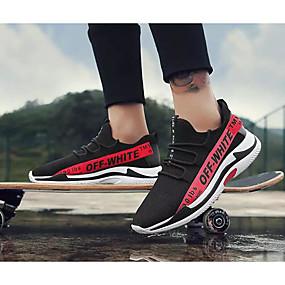 hesapli Erkek Atletik Ayakkabıları-Erkek Ayakkabı Örümcek Ağı İlkbahar & Kış Atletik Ayakkabılar Koşu Dış mekan için Beyaz / Siyah / Siyah / Beyaz