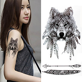 cheap Temporary Tattoos-3 pcs Temporary Tattoos Eco-friendly / New Design Body / brachium / Chest Water-Transfer Sticker Tattoo Stickers / Decal-style temporary tattoos