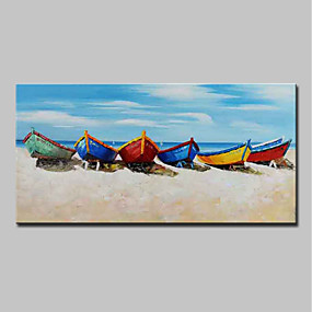 cheap Others-Oil Painting Hand Painted - Landscape / Still Life Modern Canvas
